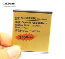 2450mAh B100AE EB-BG313BBE Gold Replacement Battery For Samsung Galaxy Ace 3 ACE 4 Neo ACE 4 LITE G313H S7272 S7898 S7562C G318H(China)