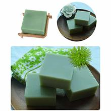 1 Pcs Natural Active Enzyme Crystal Skin Whitening Handmade Savon Soap Body Whitening Soap Green tea essential oil Soap Jabon(China)