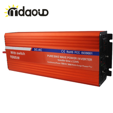 1500W DC 12V/24V/48V TO AC 110V/230V/220V PURE SINE WAVE OUTPUT POWER INVERTER CONVERTER WITH BATTERY CHARGER UPS(China)