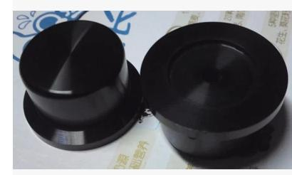 1PCS 44*25mm glossy black finish turning the whole solid core aluminum chassis knob<br>