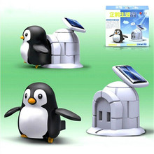 Solar Energy Educational Toy Penguin Life Toy DIY Environmental Protection Educational Toy Creative Solar Toys for Kids Gifts(China)