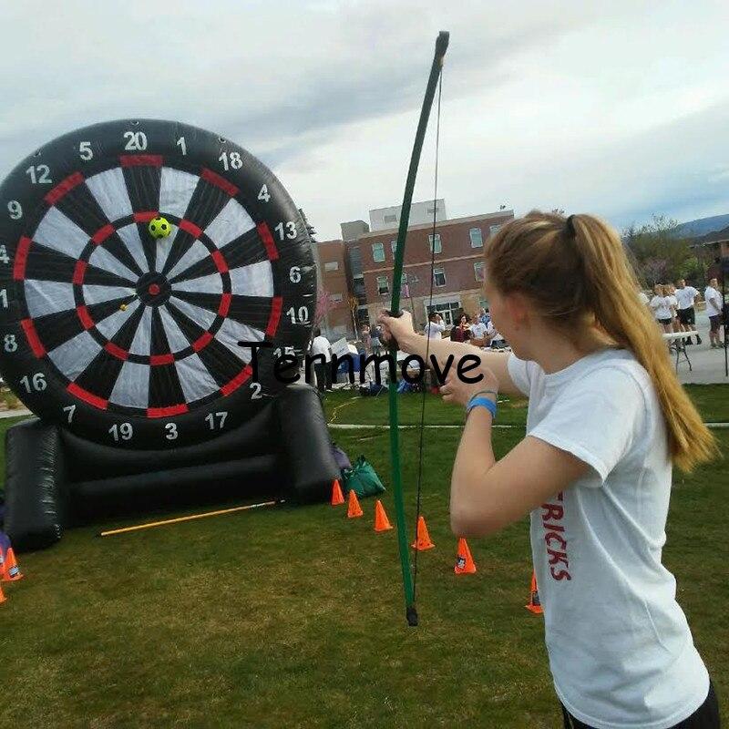 archery-darts-using-foot-darts-inflatable-dart-board