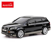 Rastar 1:24 Remote Control Car Kids Toys Radio Controlled Cars Boys Birthday Gifts Black White Q7 Without Retail Box 27300