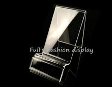 10pcs Fashion new style Acrylic phone display rack jewelry/watch/mobile cell phone display stand holder wiht pric tag card(China)