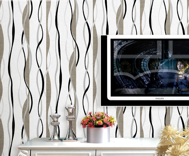 New Fashion Striped Wallpapers 3D European living room wall paper bedroom sofa tv backgroumd of wall paper roll<br>