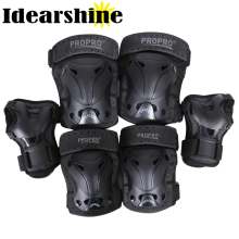 6 In 1 Set Roller Skates Skateboarding Skiing Wrist Knee Elbow Protector Set Adult Kids KneePads Protection Sports Safety #6134