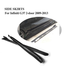 Carbon Fiber JC Style Side Skirt Auto car Side body kit Aprons For Infiniti G37 2Door 2009-2013(China)