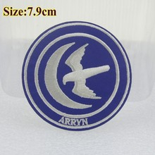 Free Shipping- $9/18pcs New design DIY Embroidered patches with glue,populer TV show game of thrones logo of Arryn wholesale