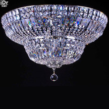 gold Ceiling Lights modern luxury hotel lobby lamp bedroom lamp high quality crystal lamp 60cm W x 30cm H(China)