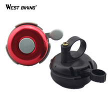 WEST BIKING Bike Bicycle Horn Fit 2.2CM Handlebar Crisp Ringing Gear Mechanical Bell Bicycle Cycling Bell for Bicycle Handlebar