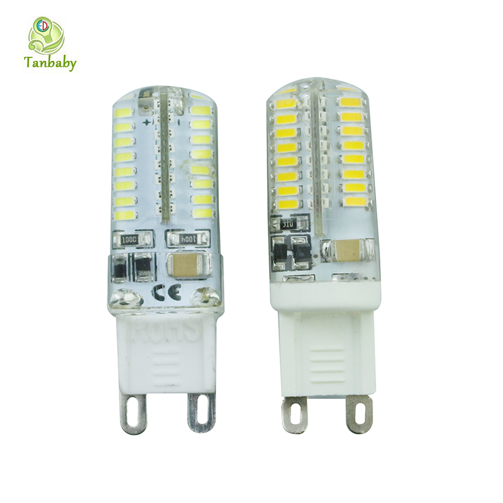 Tanbaby 5pcs SMD 3014 G9 LED Corn bulb 64 LED AC220V Crystal Silicone Candle lamp White Warm replace halogen lamp home light<br><br>Aliexpress