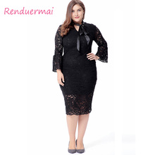 Buy 6XL Big Size Women Dress 2017 Autumn Plus Size Women Clothing Hollow Sexy Lace Dress 5XL Vintage Evening Party Dress zanzea for $27.94 in AliExpress store