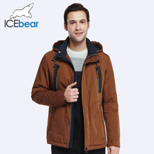 ICEbear 2017 Autumn Spring Adjustable Waist New Arrival Jacket Coat Men's Warm Trench Coat Turn Down Collar Warm Parka 17MC020D(China)