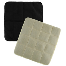 SEBTER 45*45cm Bamboo Charcoal Car Seat Cover Pad Mat Chair Four Seasons Office Home Cushion Car-styling Accessories Black/Beige