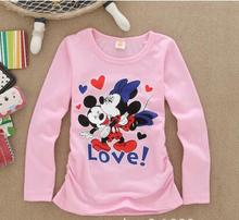 multiple Colour Kids cartoon boys and girls long-sleeved t-shirt casual clothing gray kitty pink Cotton shirt sweater 2