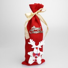 Christmas Wine Bottle Decor Set Santa Claus Snowman Deer Bottle Cover Clothes Kitchen Decoration for New Year Xmas Dinner Party(China)