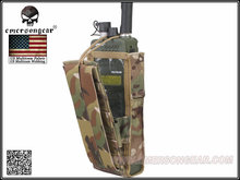 Emersongear PRC148/152 Tactical Radio Pouch Hunting Airsoft Combat Gear Molle EM8350 Genuine Multicam Black AOR Khaki