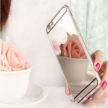 Luxury Mirror Electroplating Soft TPU Cases For iphone 6 / 6S 4.7 inch / 6 Plus 5.5 inch 5 5s SE Back Cover Bags