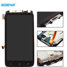 Black For HTC One X LCD touch screen display with digitizer + Bezel Frame s720e lcd Assembly Replacement , Free shipping !!!