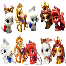 Disny Princess Palace pets LPS Rapunael's blondie Snow white's bunny berry Belle's puppy teacup Cinderella's pumpkin Kids Toys