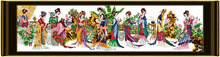 Двенадцать jinling дамы вышивки крестом комплект люди 18ct 14ct 11ct Количество печати холст стежки вышивка DIY ручной рукоделие(China)