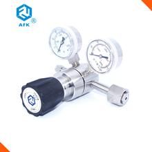 "1/4""NPTF inlet max. 200bar outlet  50bar nickel plated brass oxygen nitrogen argon gas regulator"