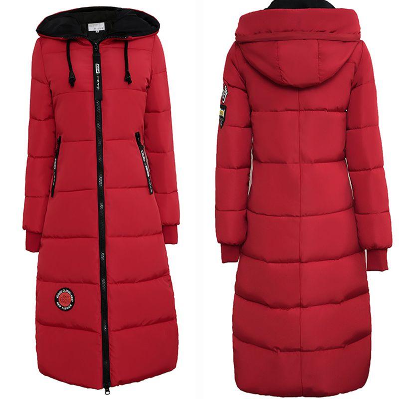 2017 Rushed Sale Full Zipper Solid Ukraine Winter Jackets Womens Coats Are Long With A Hood Thick Warm Clothes Outerwear Parks Îäåæäà è àêñåññóàðû<br><br>