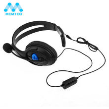 Buy MEMTEQ Wired Adjustable HeadbandGaming Chat Headset Headphone Microphone Sony PS4 PlayStation 4 High for $6.88 in AliExpress store