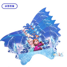 12pcs/lot elsa olaf snow queen birthday kids baby party paper mask  kids birthday suppliers girls Theme Supplies Decoration