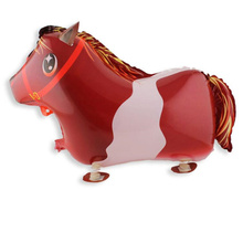 1PC 64X43cm Horse Foil Balloon Animals Walking Balloons Inflatable Air Ballon For Birthday Party Supplies Kids Classic Toys(China)
