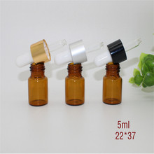10ps 5ml glass cosmetic bottle Mini glass bottle,Empty cosmetic container amber oil refillable bottle,glass dropper bottle