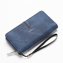 Baellerry Long Fund Wallet Male Pu Skin Man Hand Package Soft Leather Zipper Hand Take Package Mobile Phone Package Wallet(China)