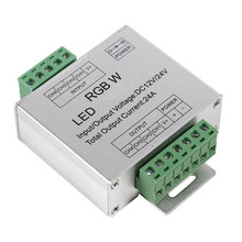 1Pcs RGBW Signal 4 Channel Output Circuit Aluminum Shell LED Strip Controller DC12-24V 24A(China)