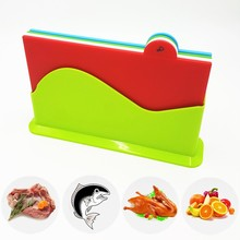 4PCS Set Plastic BPA Free FDA approved colorful Kitchen Cutting Board Chopping Blocks For Free Shipping