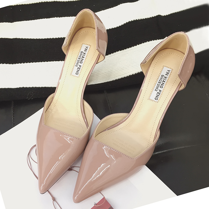 Fashion sexy elegant shallow mouth pumps pointed toe solid color female thin heels shoes single shoes<br>