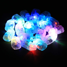 Hot !50pcs/lot Kid's DIY Pattern Colorful Flash LED Balloon Lights Paper Lantern Lamps for Wedding Outdoor Party Decoration