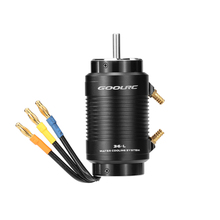 Original GoolRC 3680 1500KV Brushless Motor and 36-L Water Cooling Jacket Combo Set for 800-1000mm RC Boat