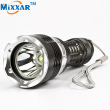 zk90 Diving LED Flashlight torch CREE XM-L2 5000LM 4 modes Zoomable lantern Waterproof underwater 120m Military grade flashlight(China)