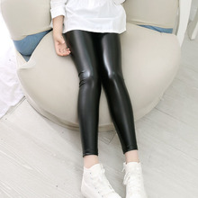 High quality Girls Faux Leather Leggings Children Pants Leather Girls Pants(China)