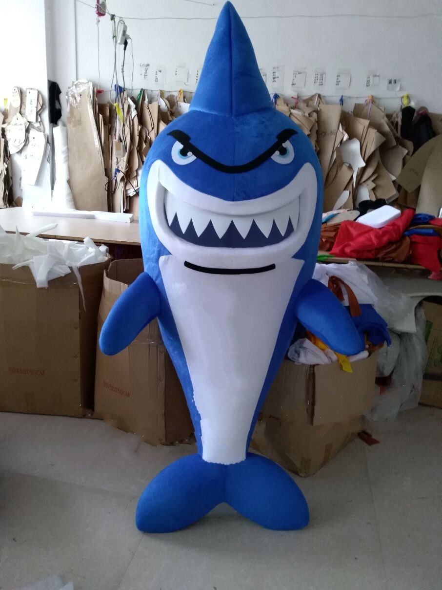 Shark Mascot Costume Cartoon Character Leafleteer Dress Funny Mascots Cosplay Theme Mascotte Carnival Costume Can Be Added Logo