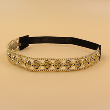 12pcs/lot women lady's sparkly fashion gold color flower rivet Headband luxury retro Hairband Hair Band Accessories wholesale
