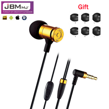 Original JBM MJ007 Bullet Earphone Heavy Metal In-Ear Headset Phone Earphones For iphone samsung xiaomi mobile phone PC MP3 MP4
