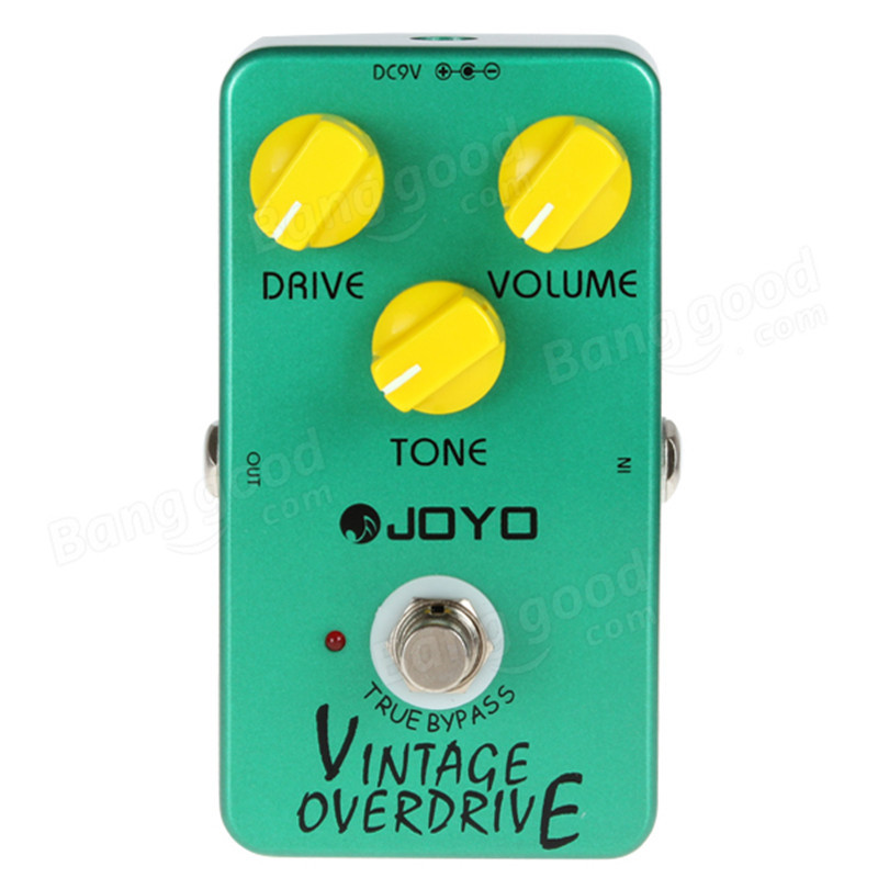 JOYO JF-01 Vintage Overdrive Guitar Effect Pedal with Ture Bypass JRC4588 Chip<br>