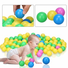 100pcs/set Soft Plastic Colorful Kid Ocean Ball Children Kid Swim Toy Secure Ocean Wave Balls Baby Pits Water Pool Swim Toys 4cm