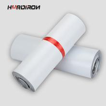 HARD IRON White color self-adhesive poly mailer White poly mailing post envelope pouches Plastic Express Courier bags
