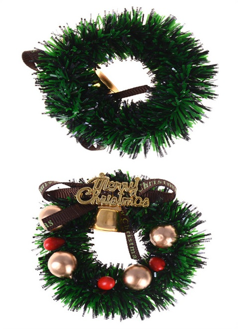 1Pc Mini Christmas Wreath Miniature Merry Christmas Garland Ornaments For 1:12 Scale Dollhouse Home Decor Gift For Kids