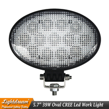 39W led work light 12V 24V Car Oval led driving lights used for suv atv offroad 4wd 4x4 Truck Marine Boat lamps Night light x1pc