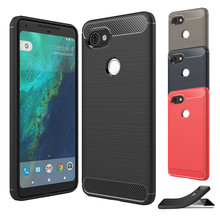 Luxury carbon fiber For Google Pixel 2 XL case Cover Armor Soft Anti-Skid Case For Google Pixel 2XL 6.0 inch