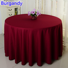 Burgandy colour wedding table cover table cloth polyester table linen hotel banquet party round tables decoration wholesale