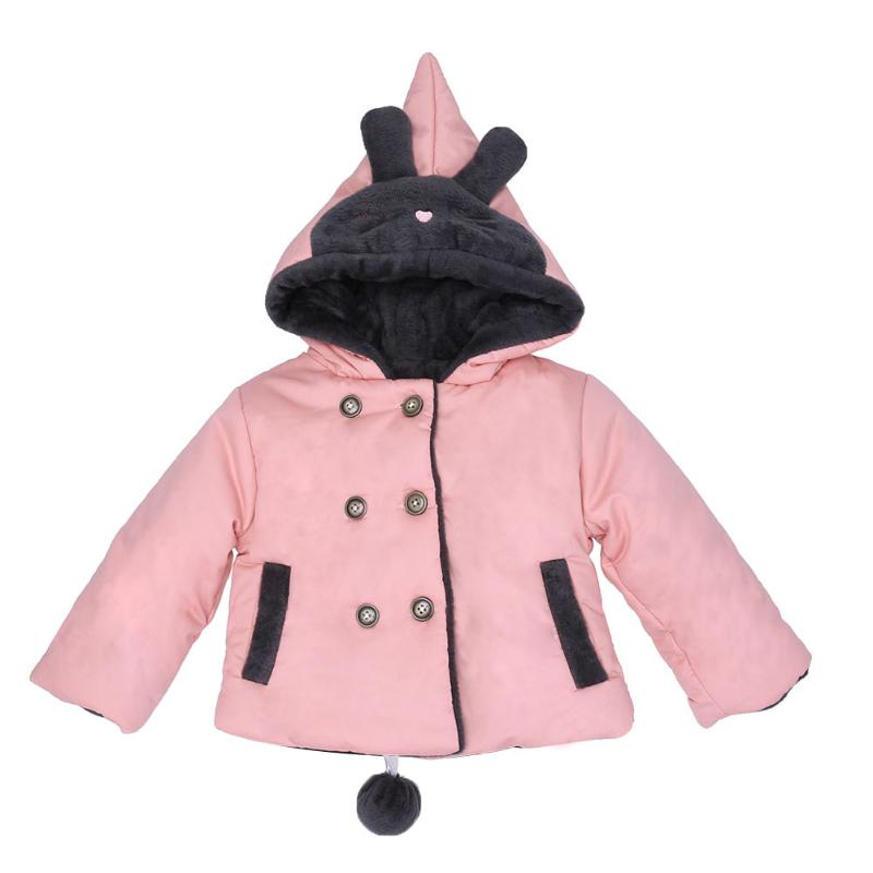 New Winter Thick Children Girl Plush Coat Kids Thicken Hooded Cotton-padded Outwear Warm Jacket Pink Yellowe Coat<br>